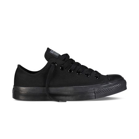 Chuck Taylor All Star Mono Canvas Low Top in Black Monochrome