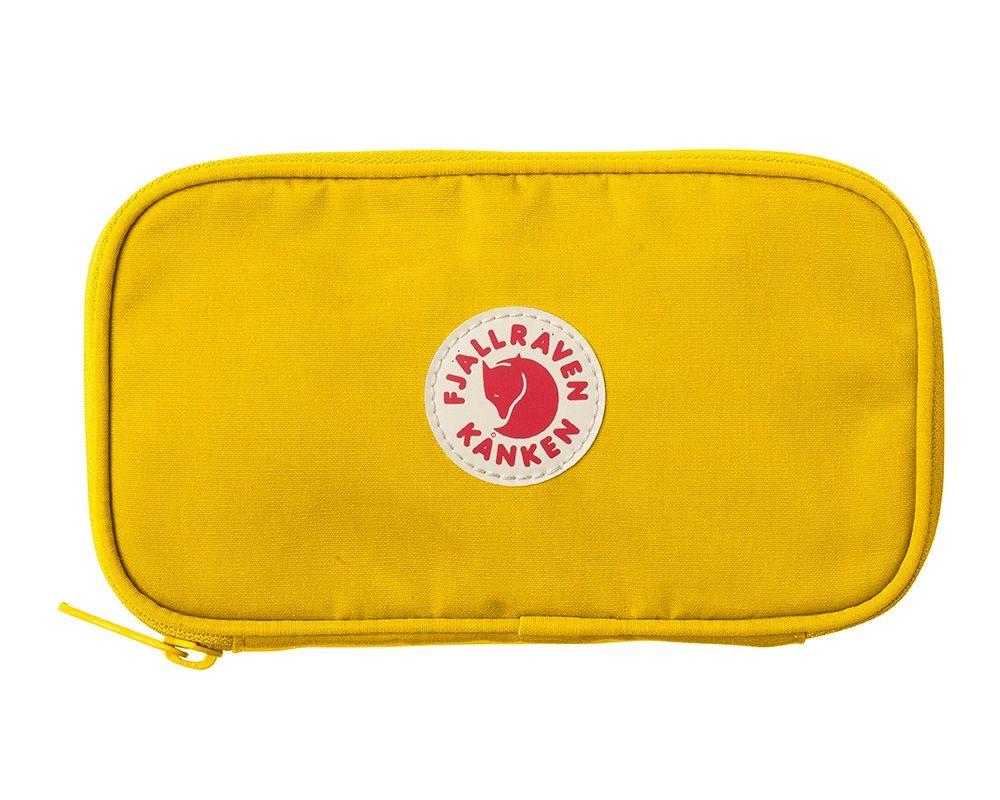 Fjällräven Kånken Travel Wallet in Warm Yellow