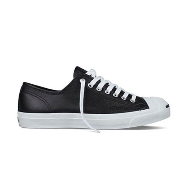 Converse Jack Purcell Leather Ox in Black
