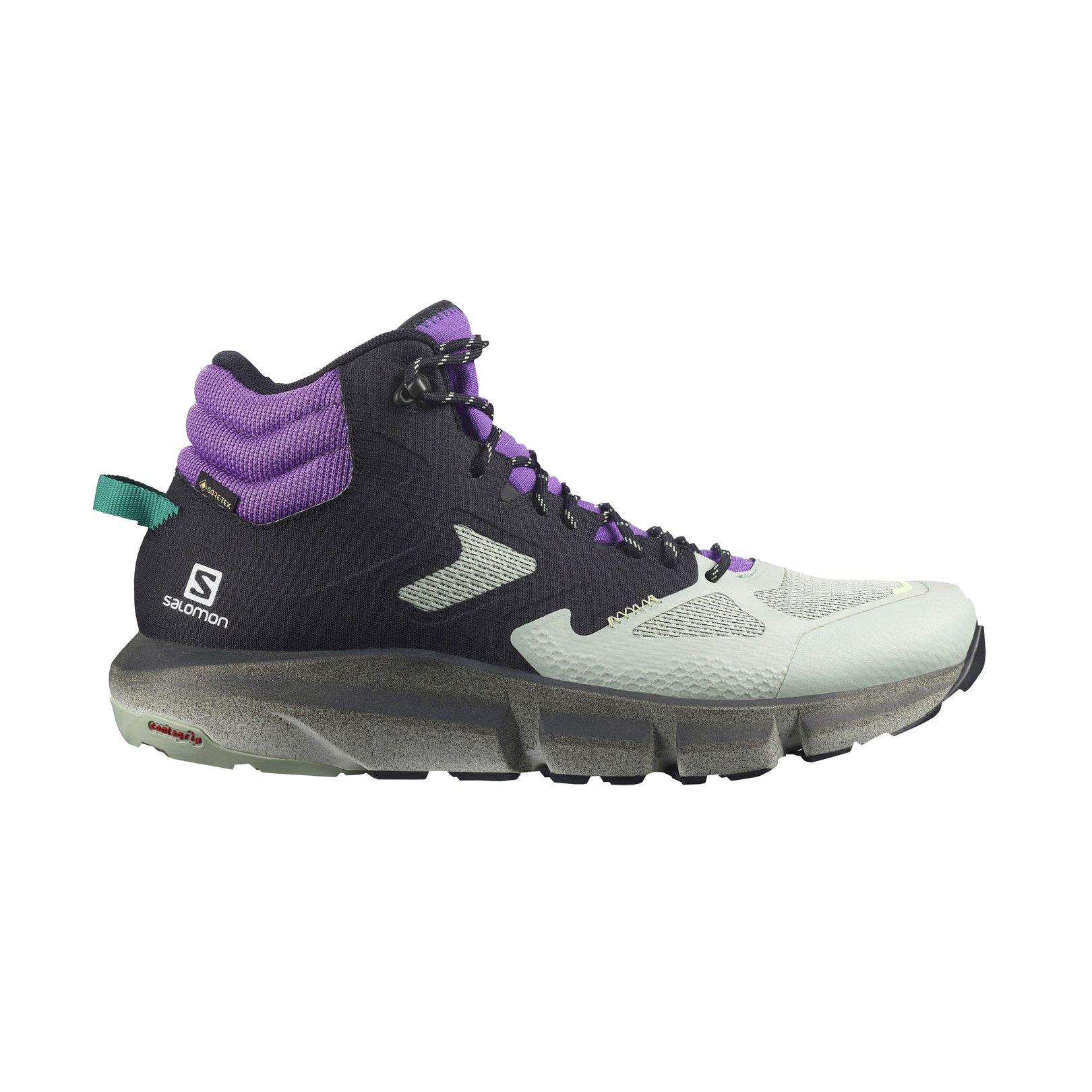 Salomon Men's Predict Hike Mid Gore-Tex in Black/Aqua Grey/Royal Lilac