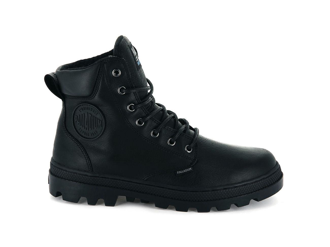 Palladium Pallabosse SC WP Leather in Black/Black