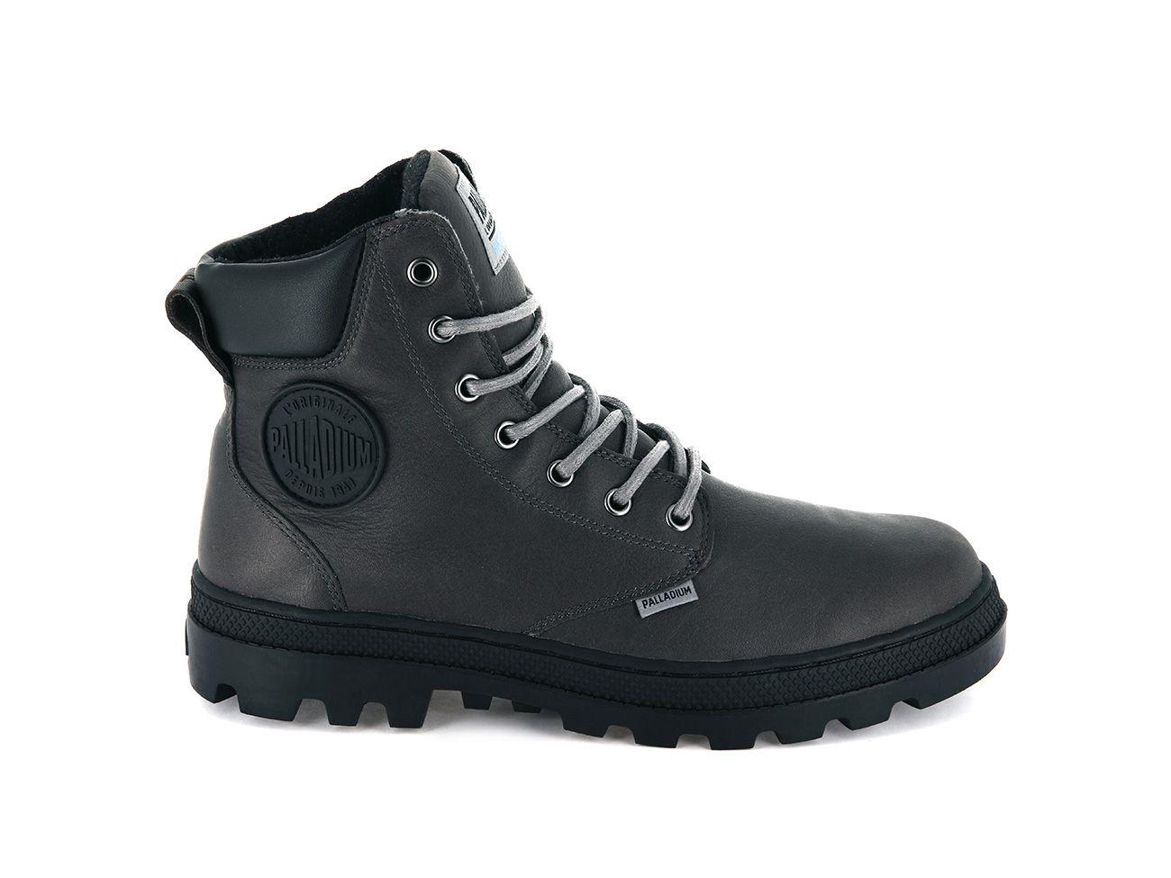 Palladium Pallabosse SC WP Leather in Cloudburst/Black