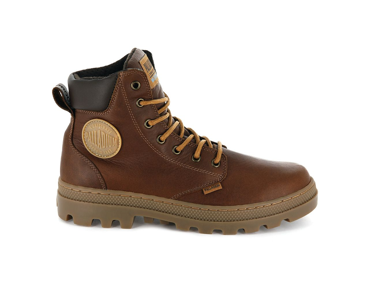 Palladium Pallabosse SC WP Leather in Cathay Spice/Chocolate Brown/Mid Gum