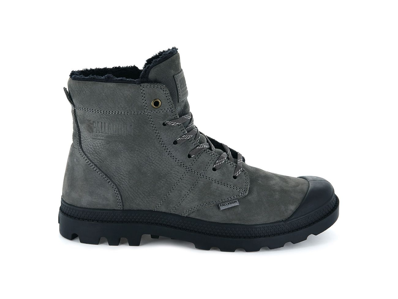 Palladium Pallabrousse LTH S Leather in Dk Gull Gray/Anthracite
