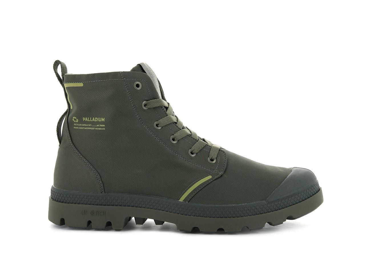 Palladium Pampa Lite+ Recycle WP+ in Dusky Green
