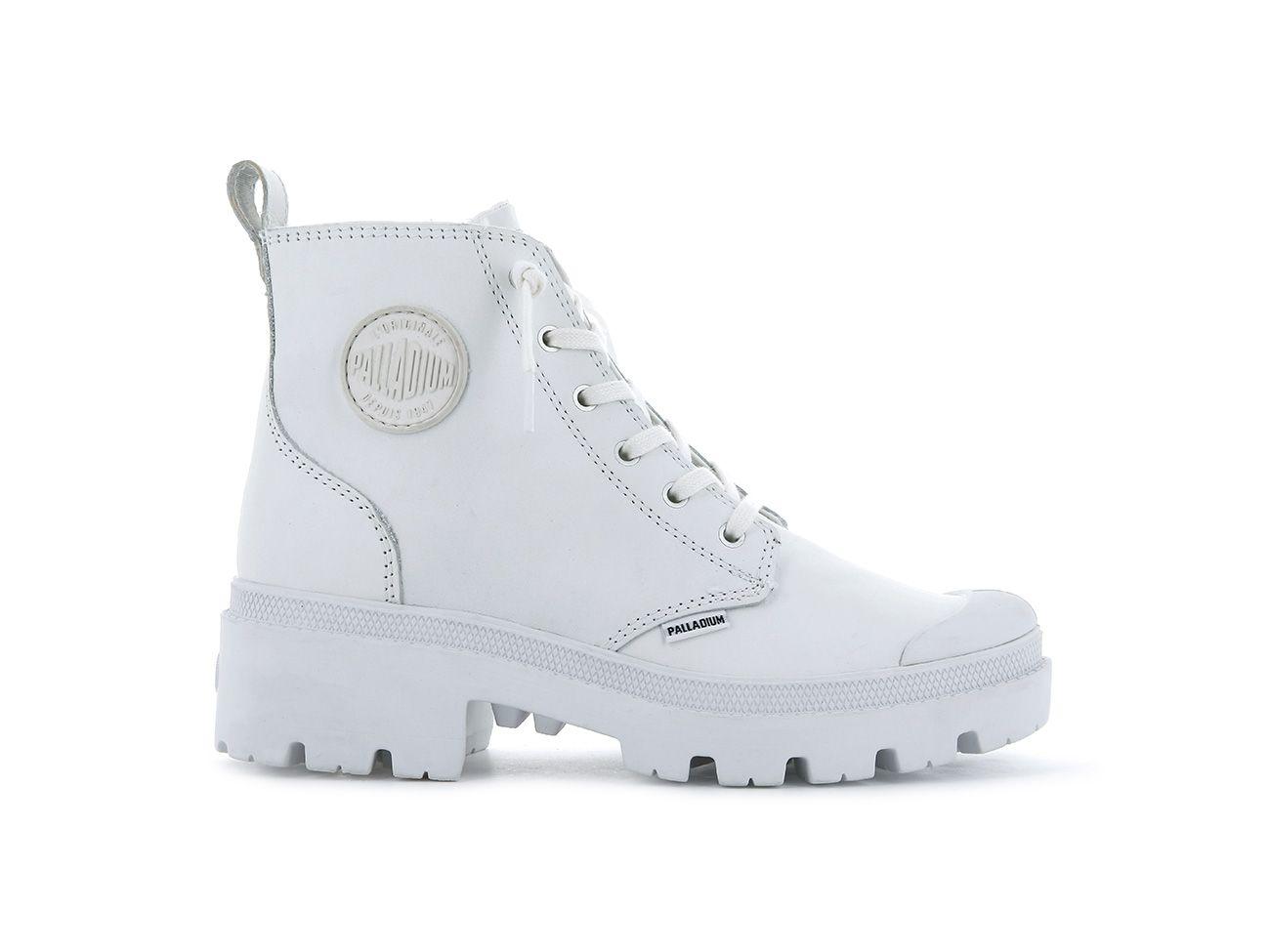 Palladium Women's Pallabase Leather in White/White