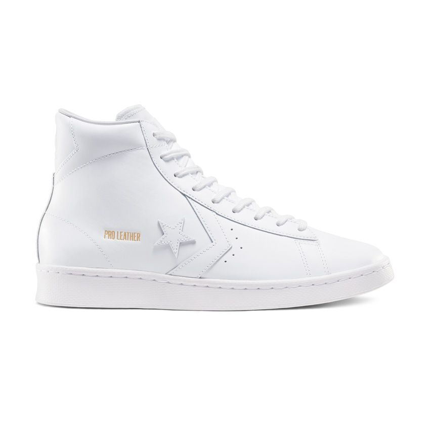 Converse Pro Leather High Top in White/White/White