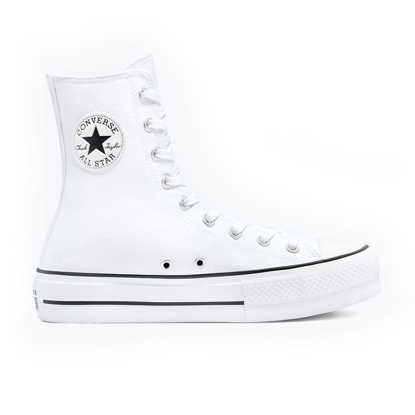 Converse Extra High Platform Chuck Taylor All Star High Top in White/White/White