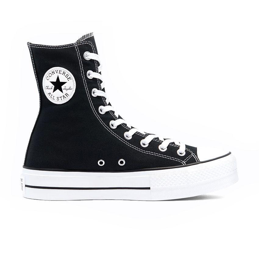 Converse Extra High Platform Chuck Taylor All Star High Top in Black/White/Black