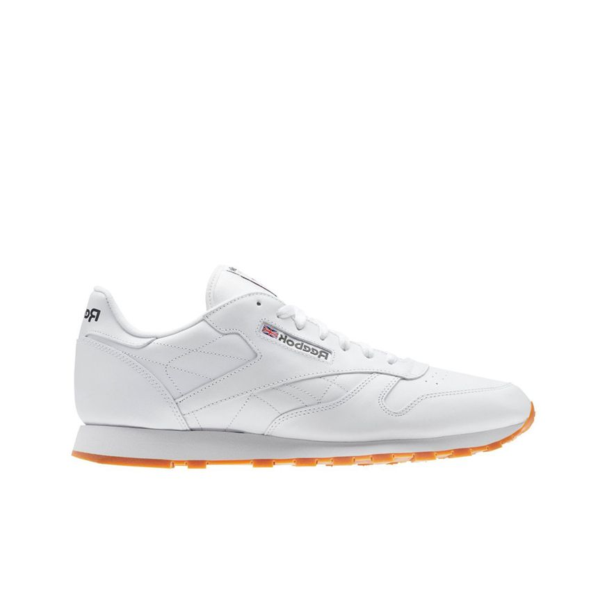 Reebok Men's Classic Leather in Intense White/Gum