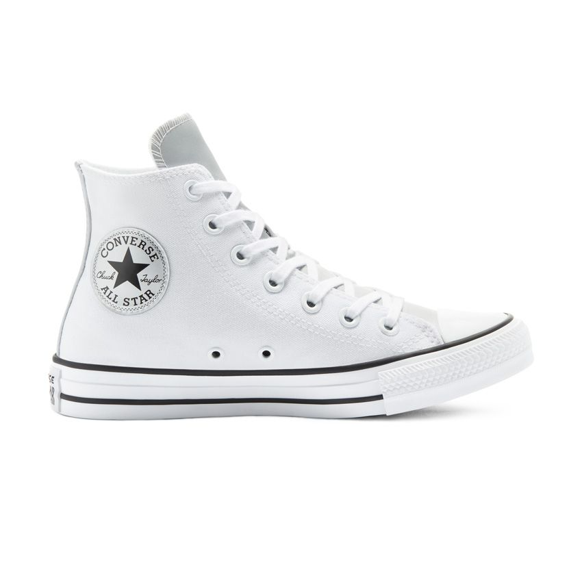 Converse Anodized Metals Chuck Taylor All Star High Top in White/Pure Silver/Black