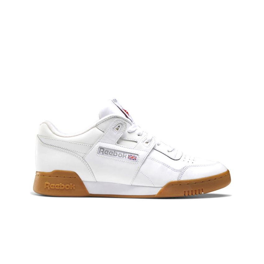 Reebok Men's Workout Plus in White/Carbon/Classic Red
