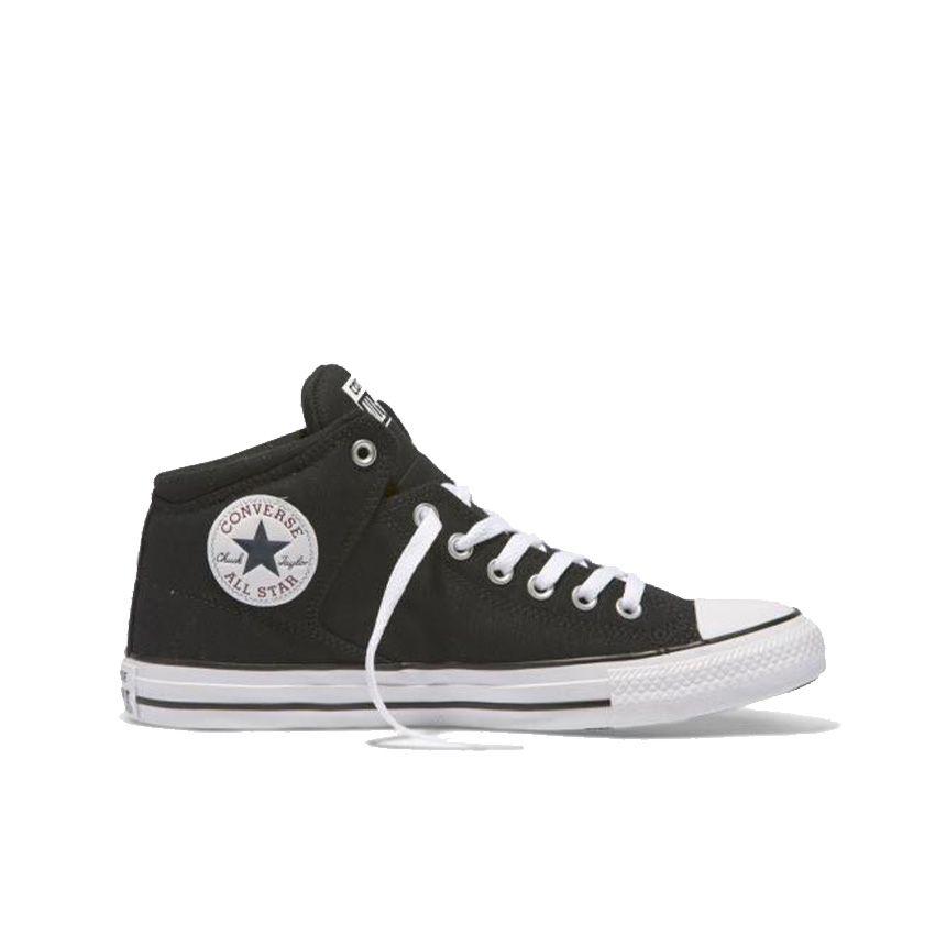 Converse Chuck Taylor All Star rue mi-montante en noir