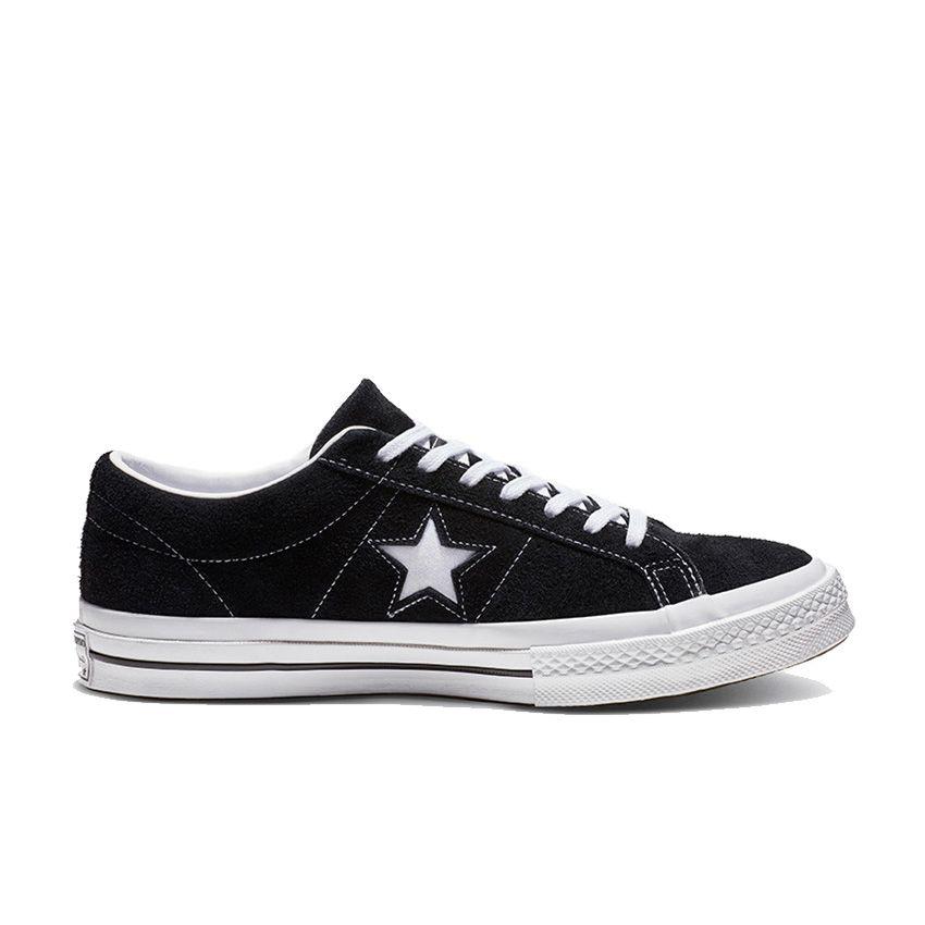 One Star Premium daim coupe basse en noir