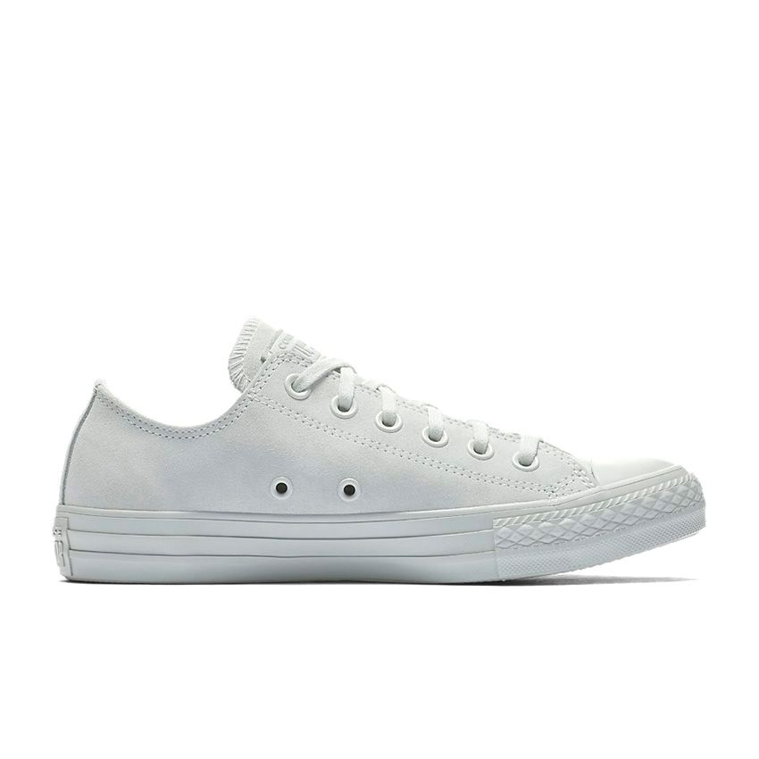 Converse Chuck Taylor All Star Mono Suede Low Top in Light Silver