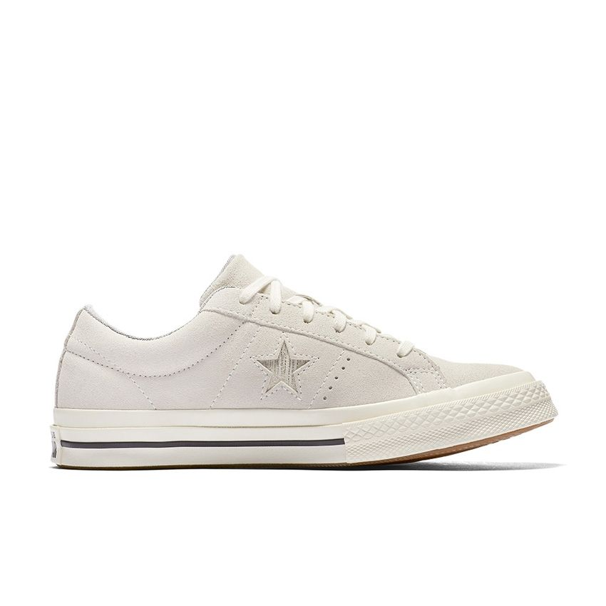 Converse One Star Precious Metal Suede Low Top in Egret/Gold/Black