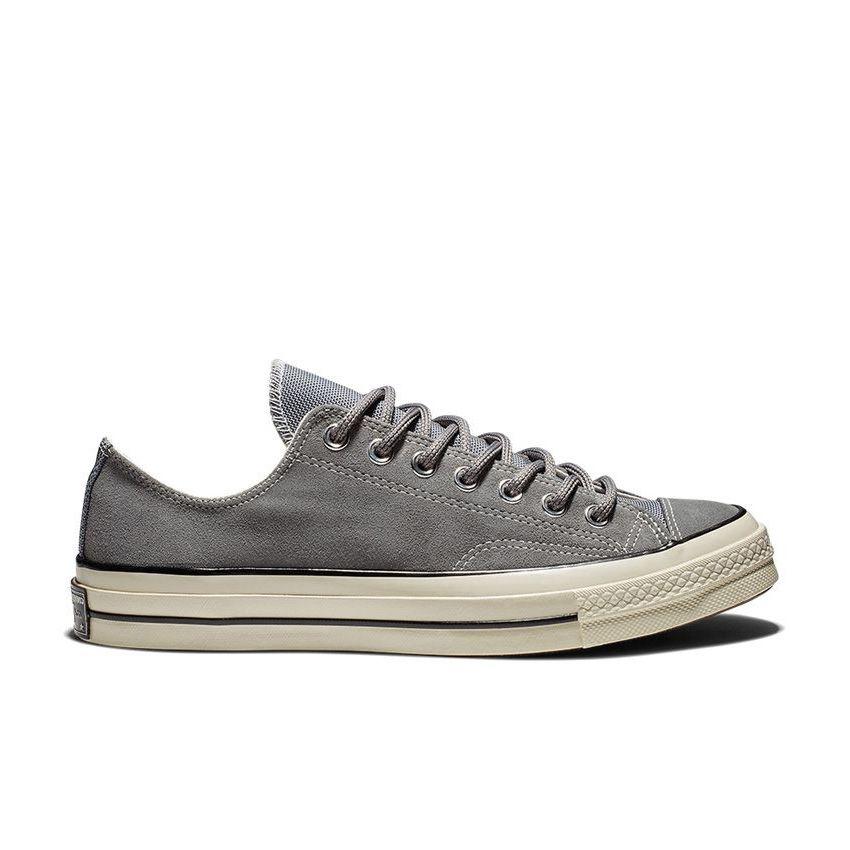Converse Chuck 70 Suede Low Top in Mason Grey/Black/Egret