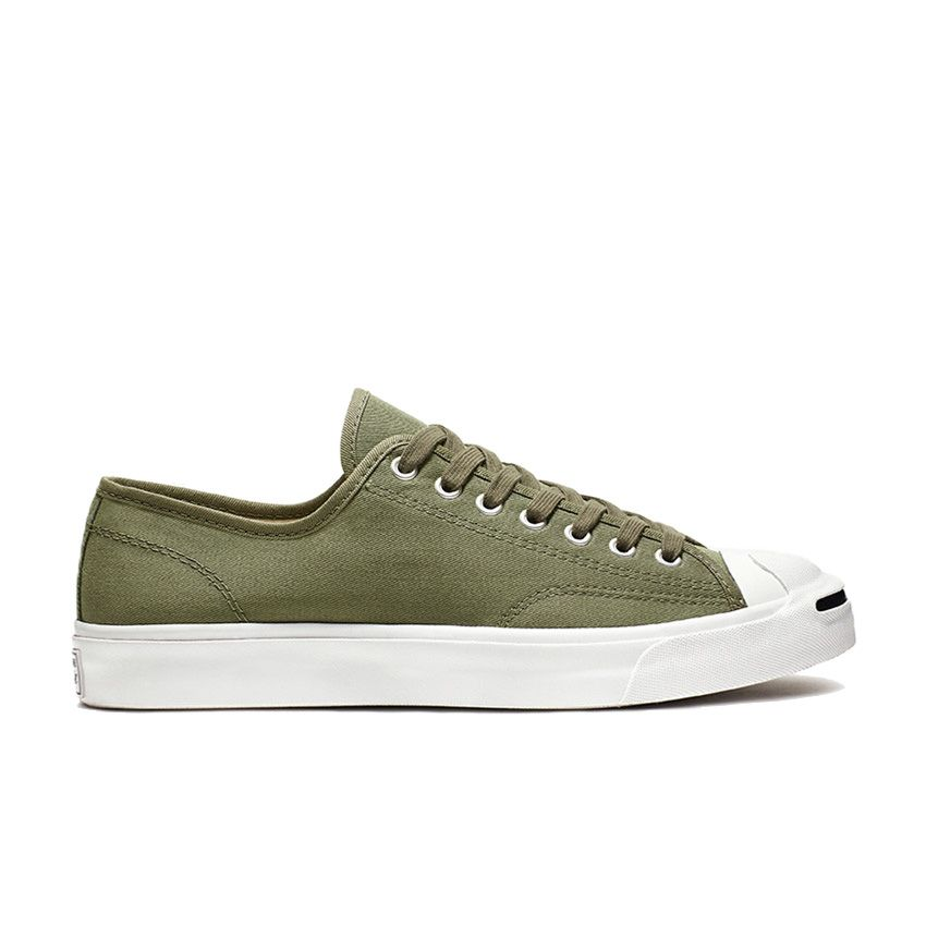 Converse Jack Purcell Play Bold Low Top in Field Surplus/White/Black