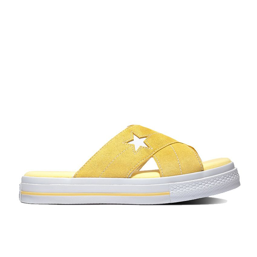 Converse One Star Sandalism Slip in Butter Yellow/Egret