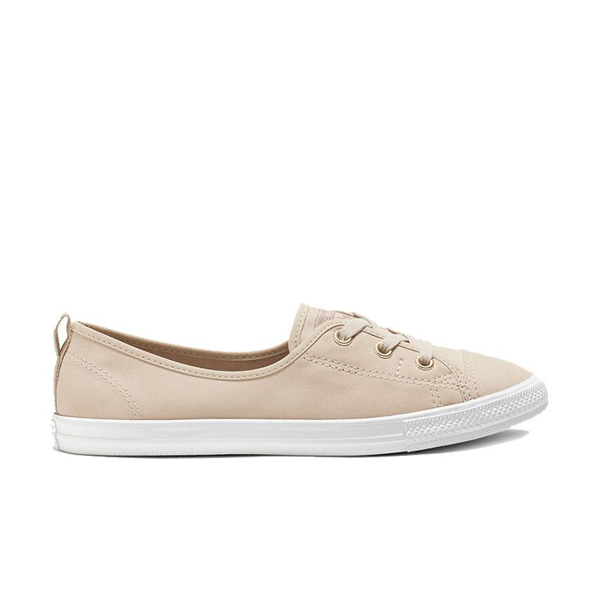 Converse Chuck Taylor All Star Ballet Lace Slip in Papyrus/Sepia Stone/Light Gold