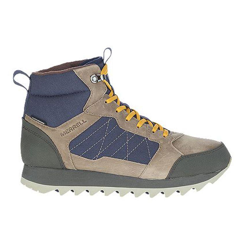 Merrell Men's Alpine Mid Polar Waterproof Sneaker Boots in Brindle