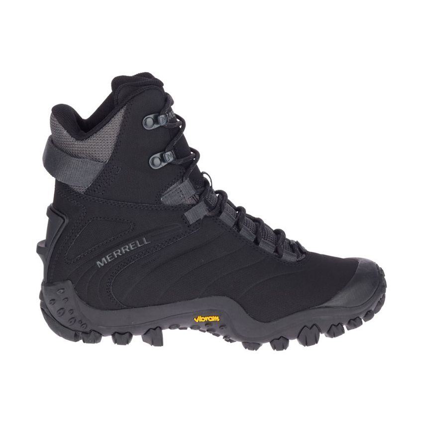 Merrell Women's Chameleon Thermo 8 Tall Waterproof Boots in Black/Rock