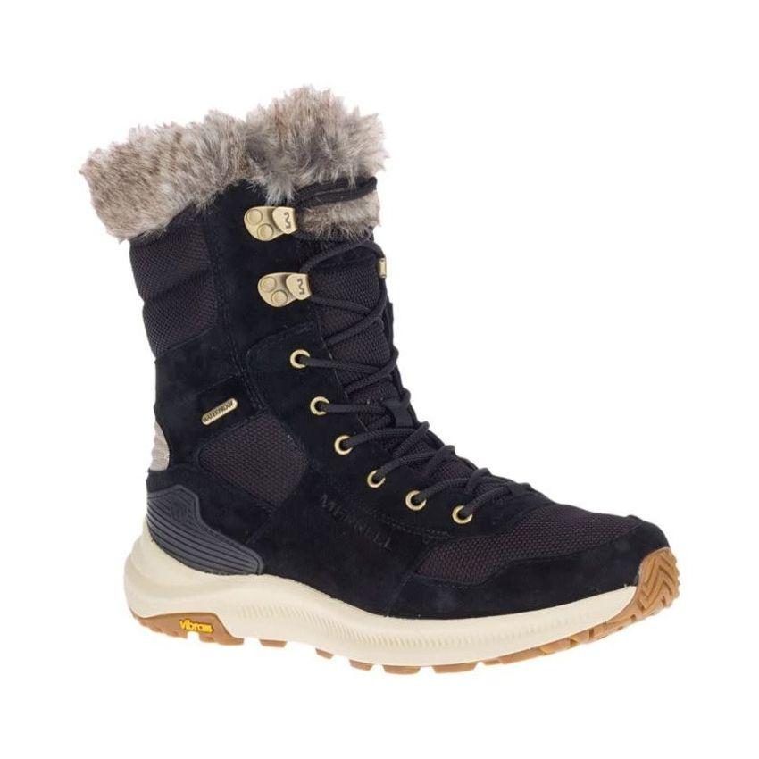 Merrell Women's Ontario Tall Polar Waterproof Boots in Black