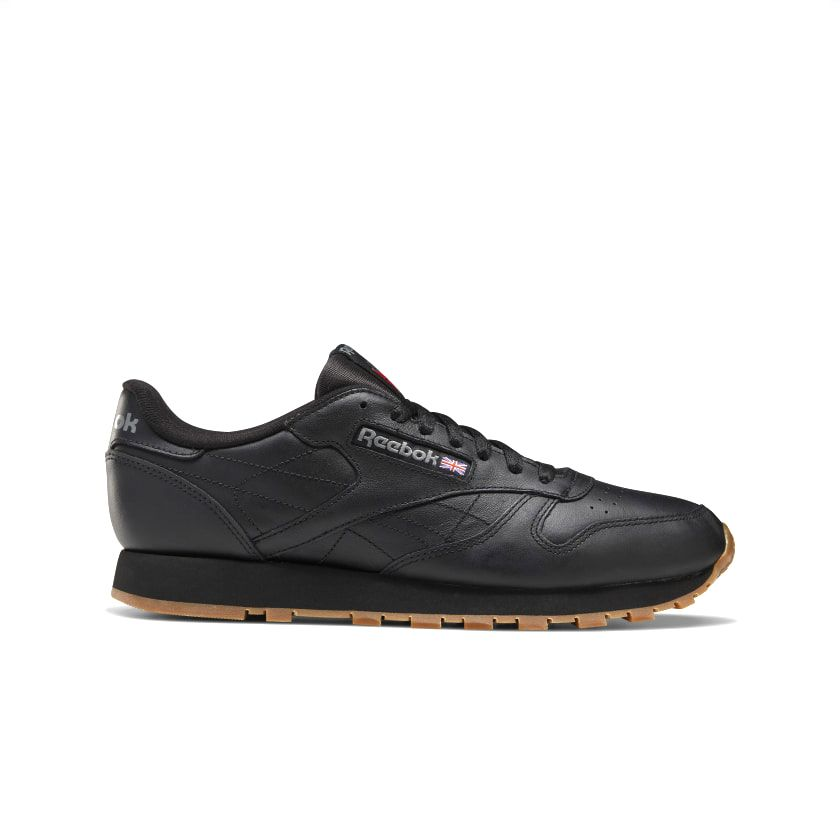 Reebok Men's Classic Leather in Intense Black/Gum