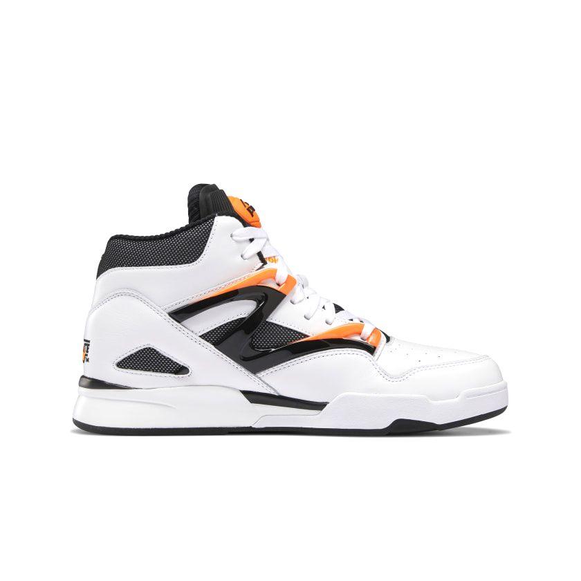 Reebok Pump Omni Zone II Men's Basketball Shoes in White/Wild Orange/Black