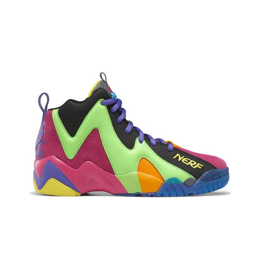 Reebok x NERF Kamikaze II Men's Basketball Shoes in Black/Solar Lime/Proud Pink