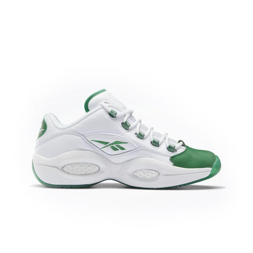 Reebok Question Low Men's Basketball Shoes in Glen Green/White/Glen Green